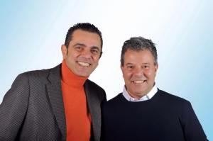 Massimo Prinzi, presidente del Sistema Bibliotecario Castelli romani con Fabio Silvagni, ex sindaco di Marino