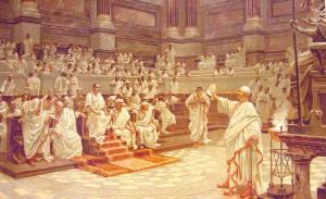 Ricostruzione di una seduta del Senato dell'Antica Roma